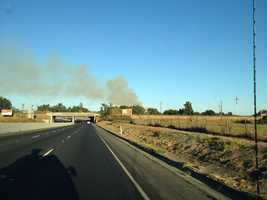 Firefighters used the American River Bike Trail to access the flames.