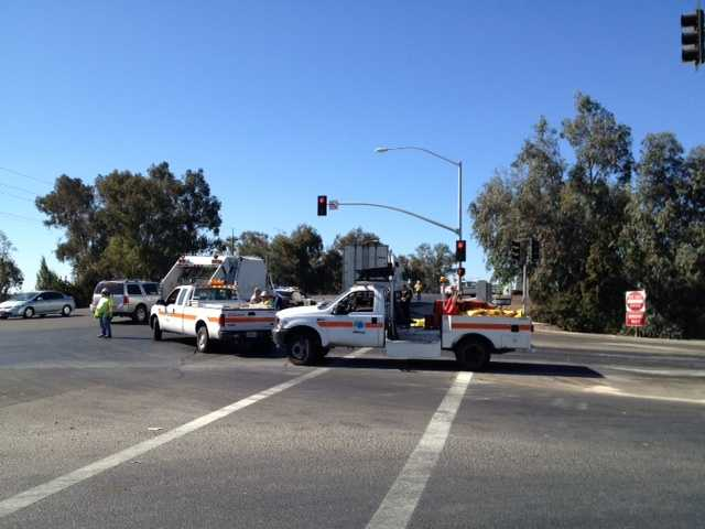 The California Highway Patrol is investigating a deadly wreck involving a vehicle and a cyclist in Stockton, officers at the crash scene told KCRA 3 (Oct. 9, 2012).