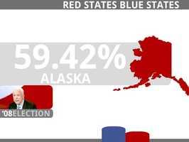 ALASKA(3 Electoral Votes)McCain, John R 193,841 59.42%Obama, Barack D 123,594 37.89%