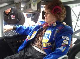 More than 100,000 people have viewed a YouTube clip of the grandmother who nearly slipped out of her harness while skydiving.