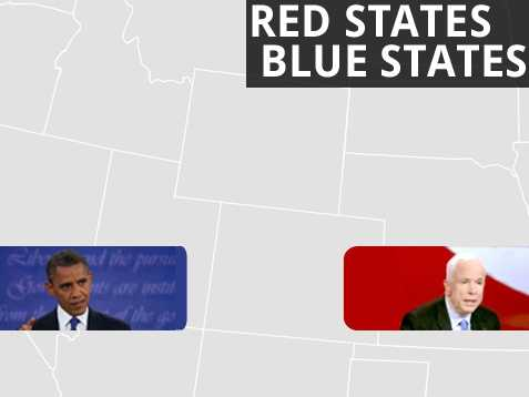 With the election just weeks away, take a look how each state voted in 2008, when then Sen. Barack Obama faced Sen. John McCain. Source: Federal Election Commission