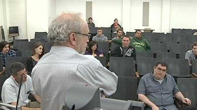 College students watch debate