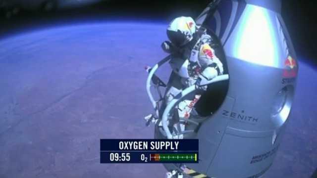 Felix Baumgartner jumps from edge of space