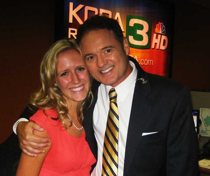 Say cheese! Walt taking a photo with a former KCRA 3 intern.