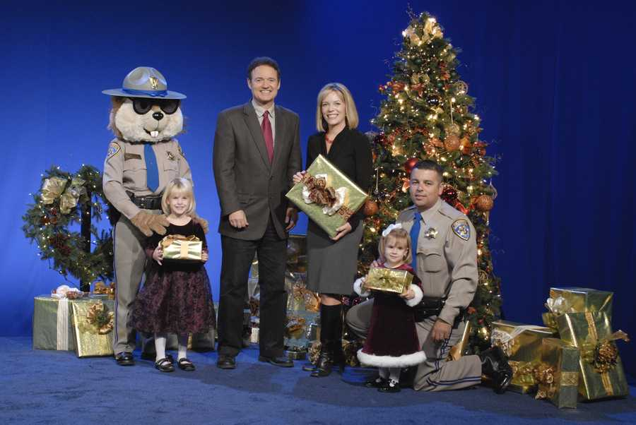 Walt and Eileen Javora with members of the California Highway Patrol and friends.