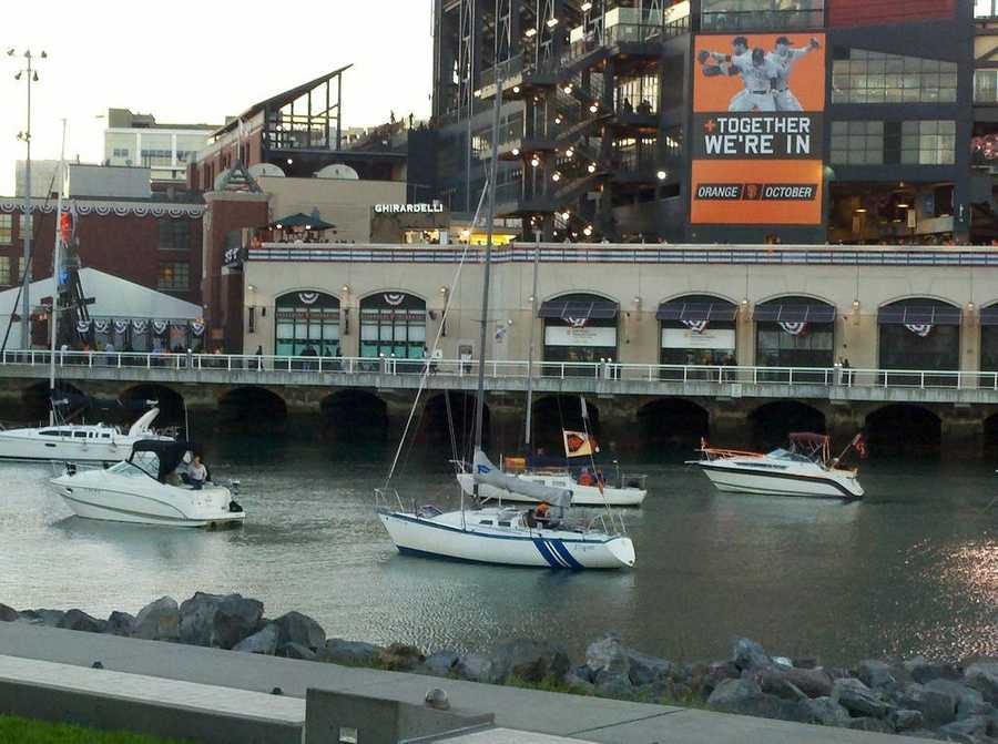Photo from Game 1 of the NLCS in San Francisco.
