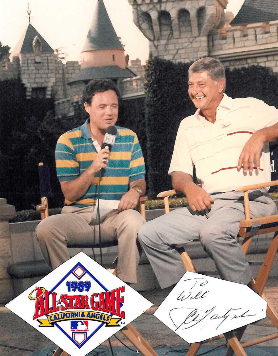 Walt Gray at the 1989 Major League Baseball All-Star game in Anaheim.