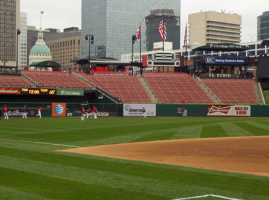 Photo taken before Game 3 of NLCS in St. Louis.
