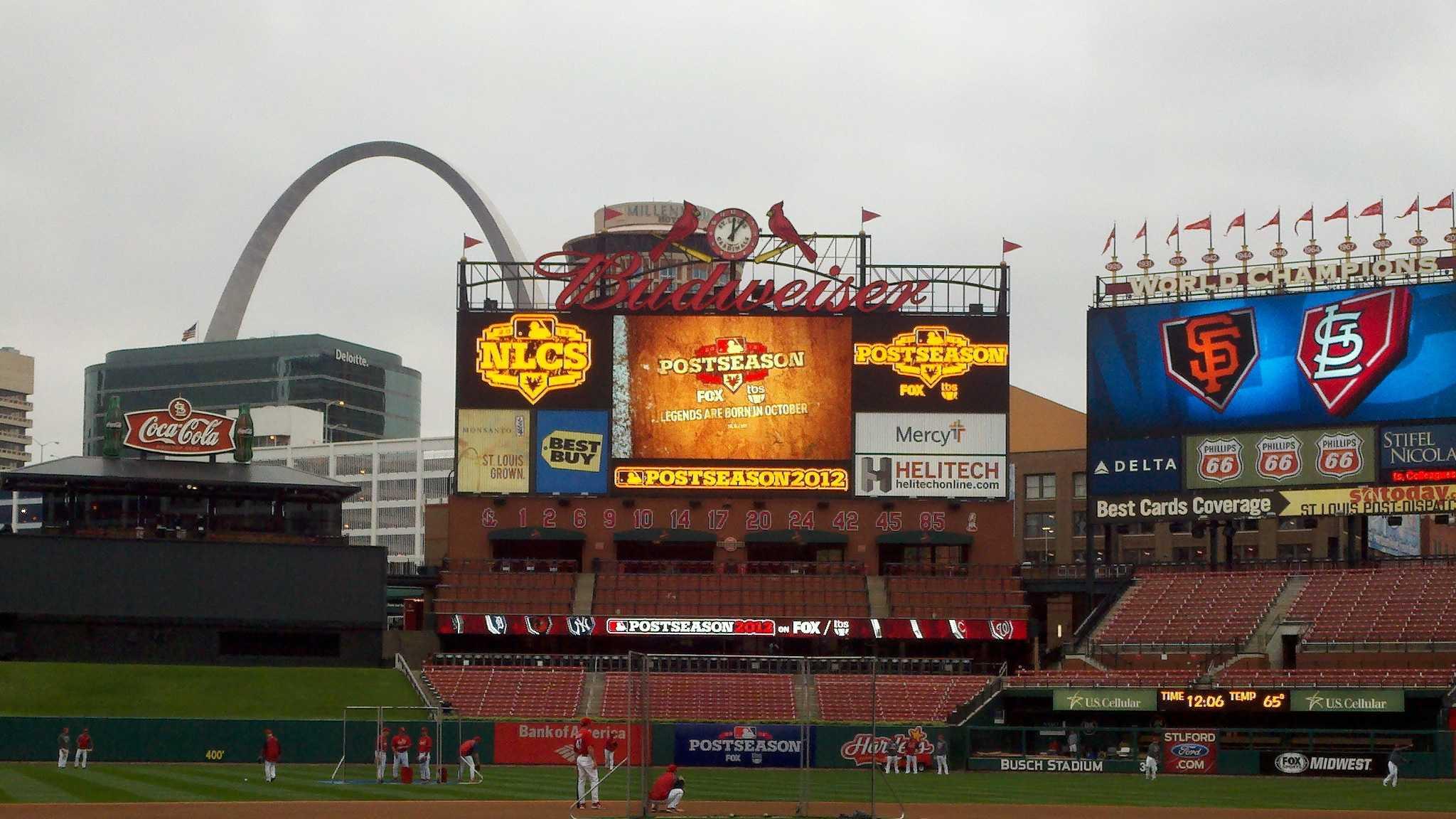 St. Louis Busch Stadium inside