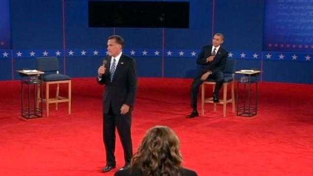 "On Facebook, Bren writes: ""I liked when Romney told president Obama to sit down! He wasn't done yet!"""