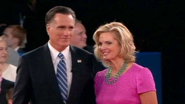 "On Facebook, Amy writes: ""Even Romney's wife looked mad when she came on stage at the end."""