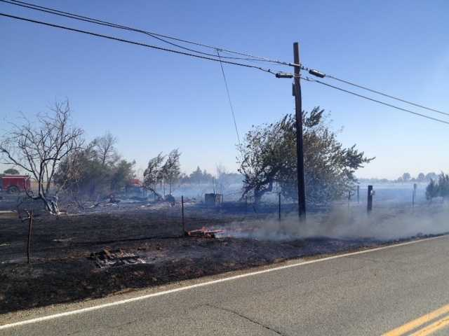 The blaze didn't cause any significant damage, Solano County fire crews said.