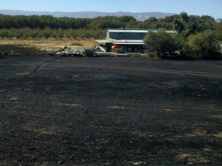 A small fire broke out in Solano County off Interstate 505 between Vacaville and Winters.