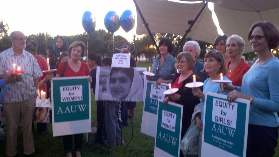 Yousufzai was flown to Britain this week for medical treatment, amid threats. Locally, she was honored in Stockton.
