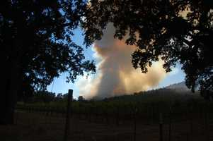Lower Lake is home to several vineyards. Cal Fire reported that one barn and 10 vehicles burned in the fire, but no homes have been been lost.