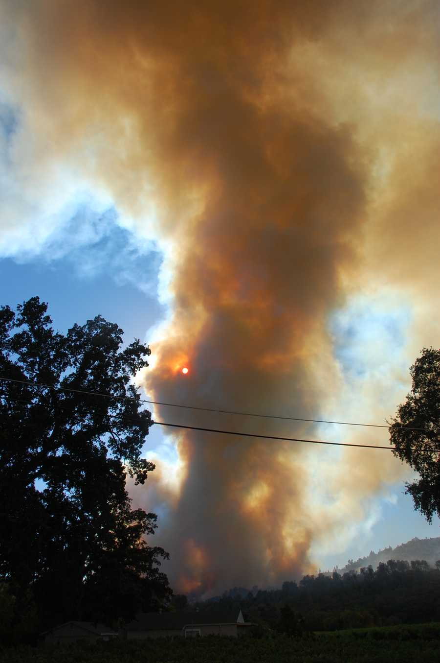 By Thursday evening, the fire had grown to 300 acres and was threatening several homes, Cal Fire reported.