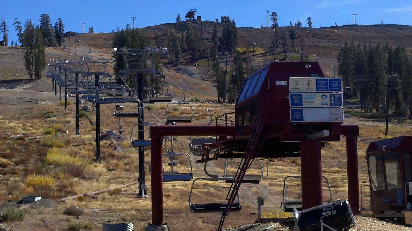 Ski lifts at Boreal could be running by the end of next week if a foot of snow falls next week.