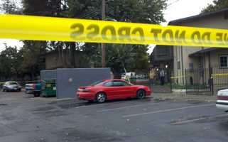 Two bodies were found at a Stockton apartment complex early Monday morning, police said (Oct. 22, 2012).