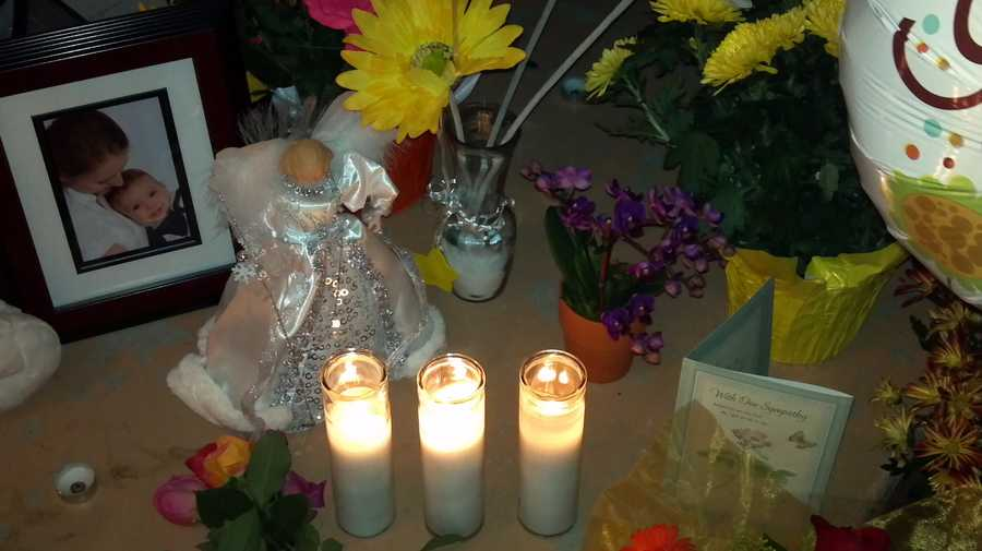 A makeshift memorial was set up at the home where three people were killed in Rancho Cordova earlier this week (Oct. 25, 2012).