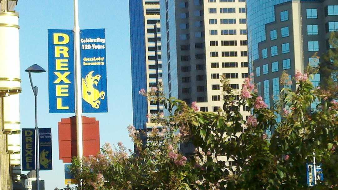 Mid-term exams were cancelled at Drexel University's Sacramento campus on Monday because of superstorm Sandy.