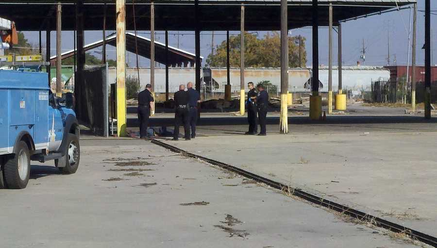 A man was electrocuted in Stockton on Tuesday morning, police said.