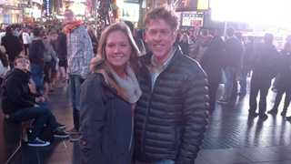 This photograph, provided by the Vogt family, shows Kaela Vogt and her father Kris in New York City where they had been preparing to run in this weekend's marathon.