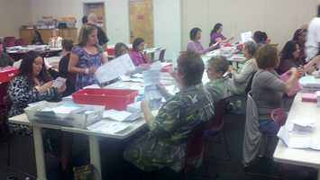 Initial estimates put the number of ballots yet to be processed at 100,000 as of Wednesday afternoon.