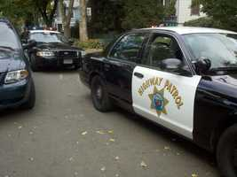 Police assisted the California Highway Patrol in setting up a perimeter near the 1400 block of G Street.