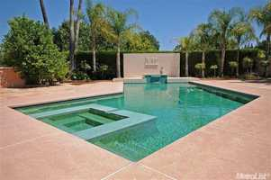 The home's beautiful pool and deck.