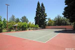 A look at the tennis courts.