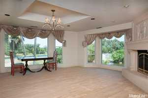 An inside look at the home's formal dining room.