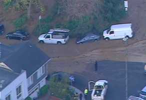 A broken water main is being blamed for a mudslide that has buried a Daly City neighborhood in mud.