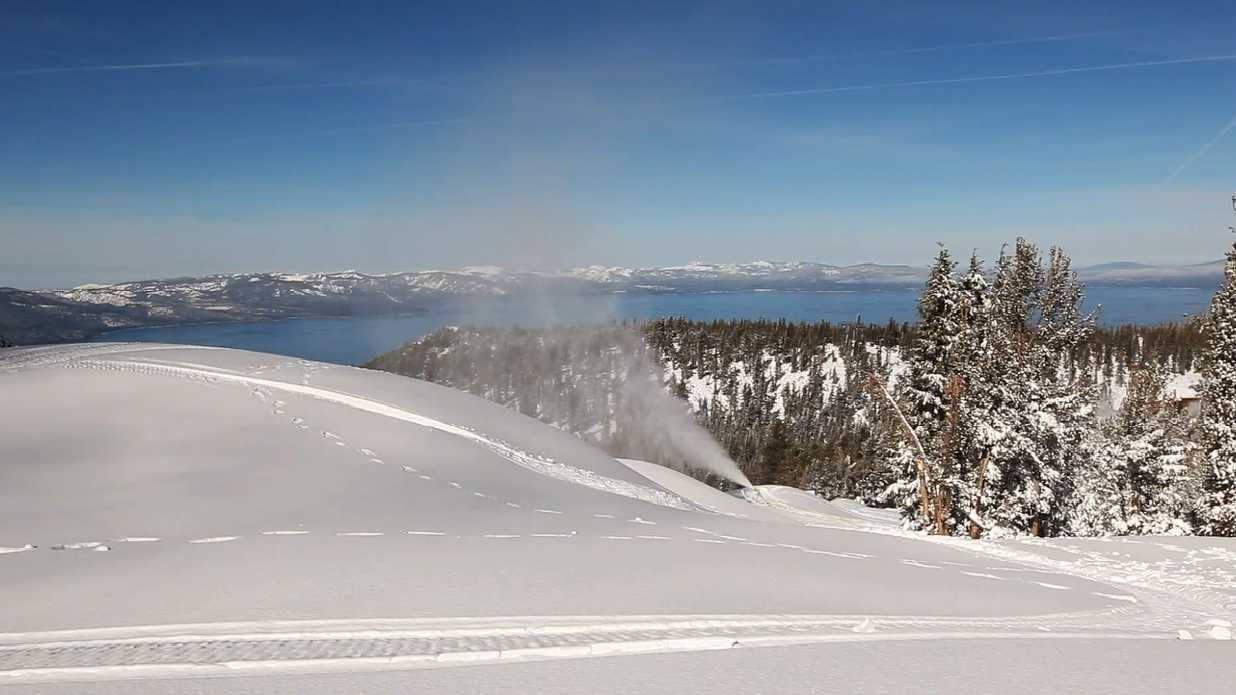 Snow-makers worked around the clock, enabling South Lake Tahoe's largest resort to open earlier than anticipated.