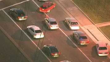 The pursuit took place around 5 p.m., during Wednesday's evening commute.