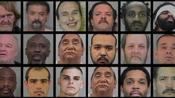 Some of these parolees might have already been caught. For a complete list that is updated by the California Department of Corrections and Rehabilitation across the state, go here.