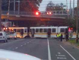 A woman died after she was struck by a light-rail train in Midtown Sacramento, officials told KCRA 3 on Friday morning (Nov. 16, 2012).