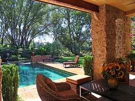 Here's a look at the swimming pool and backyard.