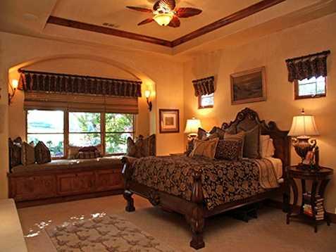 Here's a peek inside the master bedroom.