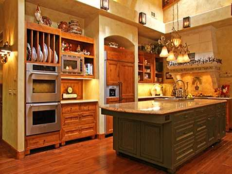 Here's a look inside the kitchen.