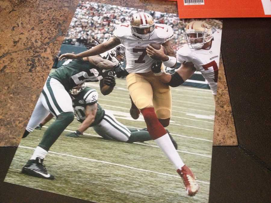 This image, showed by Colin Kaepernick's father, features the 49ers quarterback.