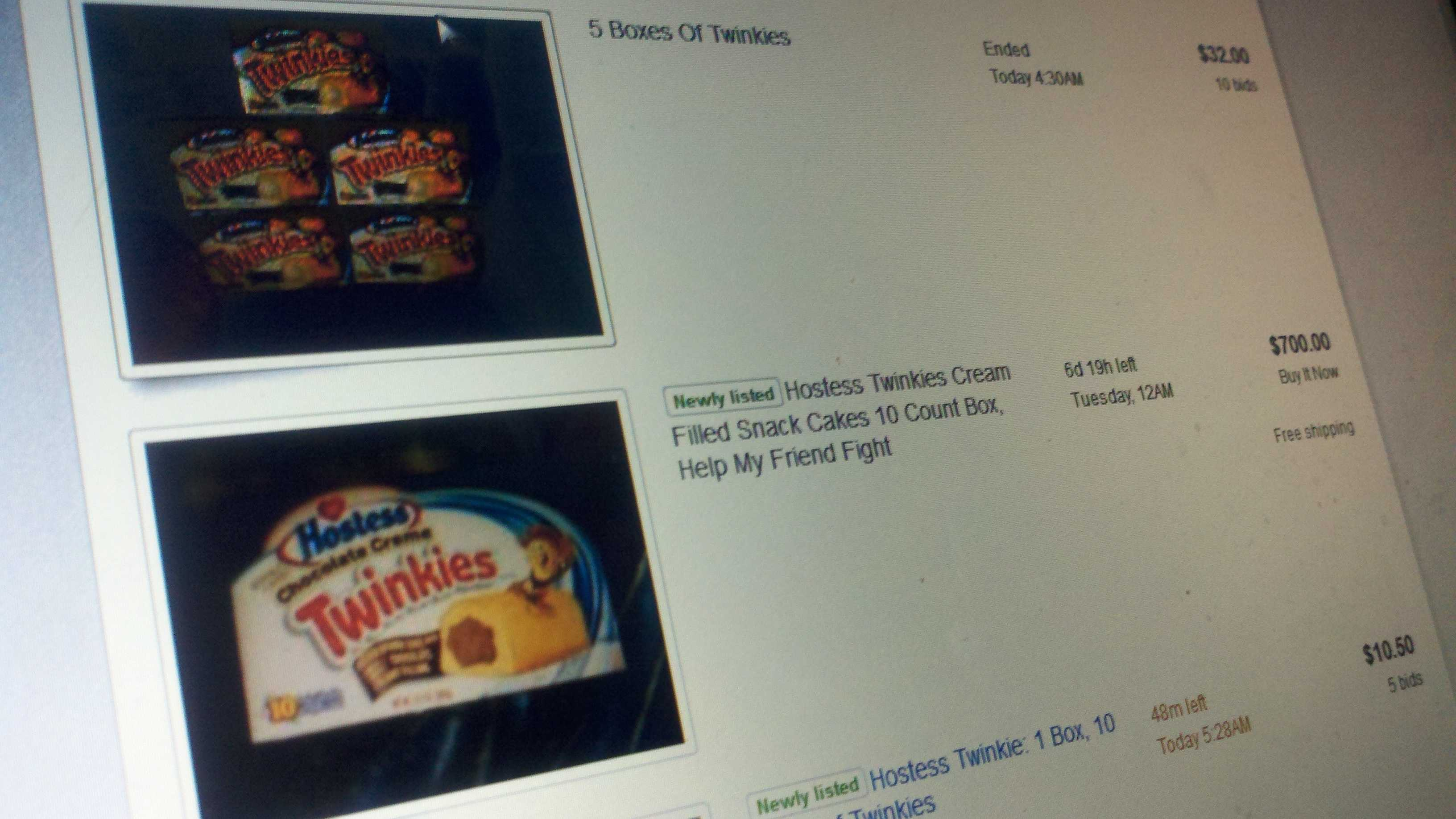 The secondary market for Twinkies has more than doubled the regular price for the Hostess treat.