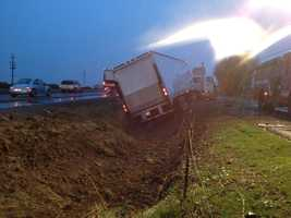 Traffic was backed up on northbound Highway 99 in Galt on Wednesday morning after a big rig slammed into a car near Twin Cities Road, according to police (Nov. 21, 2012).