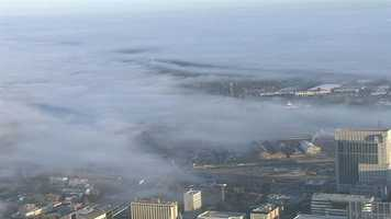 Many early risers and Black Friday shoppers began to see a blanket of fog move into the area this morning.