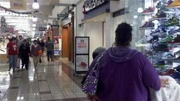 Stockton shoppers say they are happy the troublemakers stayed at home and let them enjoy Black Friday.