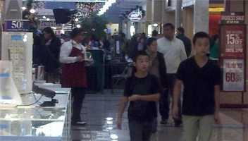 Shoppers at Weberstown Mall in Stockton are describing each other as nice, friendly and orderly.