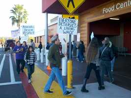 The West Sacramento picketers identified themselves as union organizers, not employees of the store.