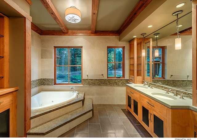 This is the master bathroom.