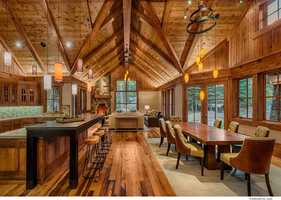 By design, the kitchen and dining rooms are all part of the great room open floor plan.