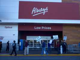 Workers in Placerville and Fairfield also planned to join the walkout today, expressing frustration over take-home pay, hiring practices and for opening stores on Thanksgiving.