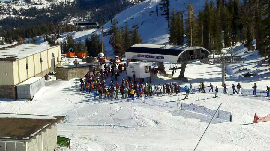 Squaw Valley was one of a half-dozen Tahoe-area resorts open for the Thanksgiving weekend. (Nov. 23, 2012)